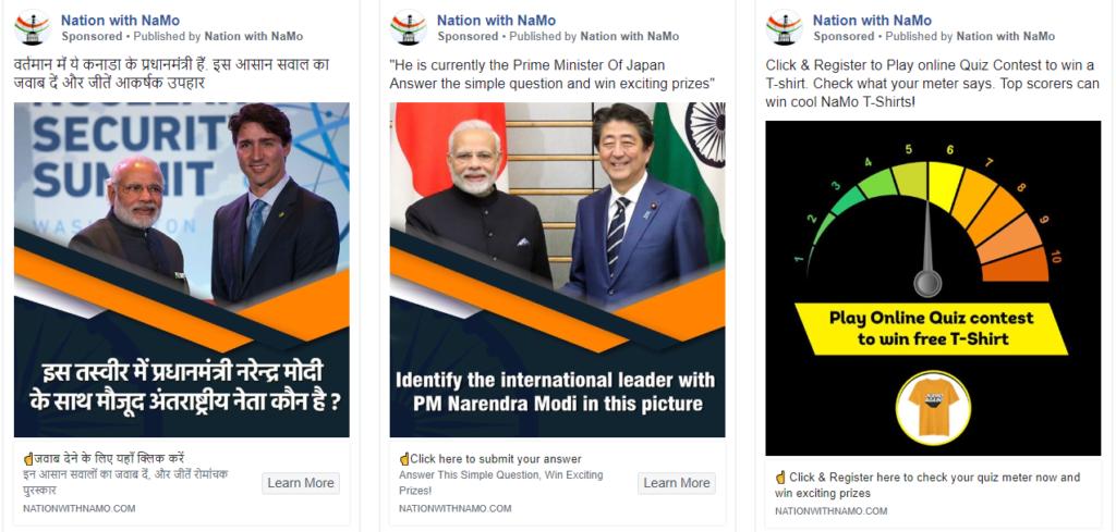BJP Facebook ads